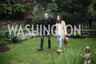 Adam Ruben, Philippa Hughes. Photo by Tony Powell. Woodrow Wilson House 28th Annual Garden Party. May 11, 2016