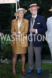 Debra and C. Braxton Moncure. Photo by Tony Powell. Woodrow Wilson House 28th Annual Garden Party. May 11, 2016