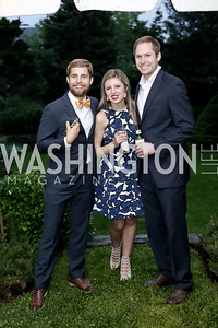 Winston Randolph, Kathryn Bentley, Andrew Butler. Photo by Tony Powell. Woodrow Wilson House 28th Annual Garden Party. May 11, 2016