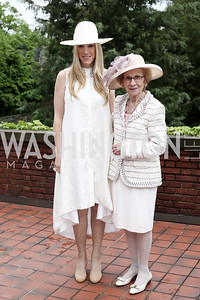 Kristen Lund, Pauline Calomiris. Photo by Tony Powell. Woodrow Wilson House 28th Annual Garden Party. May 11, 2016
