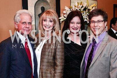 Donald Friedman and Rhona Wolfe Friedman, Jenny Bilfield and Joel Friedman. Photo by Tony Powell. 2016 Young Concert Artists Gala. Embassy of Hungary. April 8, 2016
