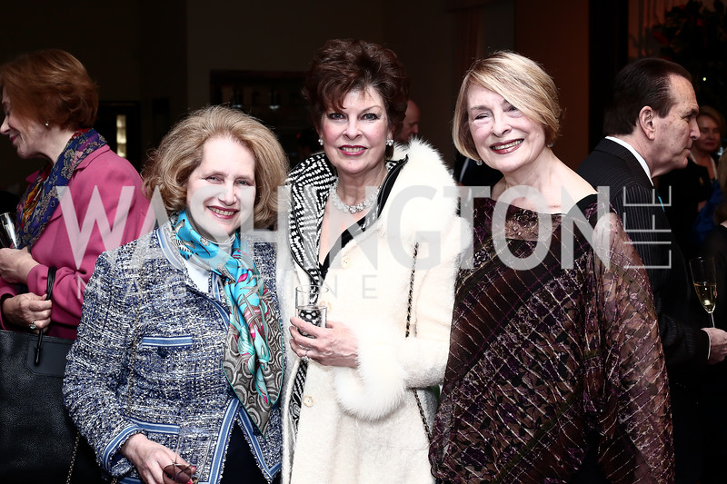 Juliet Six, Lily Gunn, Jeanne Mitchler-Fiks. Photo by Tony Powell. 2016 Young Concert Artists Gala. Embassy of Hungary. April 8, 2016