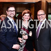Ken Hyle, Danielle Cohen, Dale Mott. Photo by Tony Powell. 2016 Young Concert Artists Gala. Embassy of Hungary. April 8, 2016