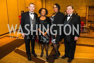 Brent Wilkes, Lillian Singh, Myisha Gatson, Roger Rocha. Photo by Alfredo Flores. LULAC 20th Annual LULAC National Legislative Awards Gala. Grand Hyatt. February 15, 2017