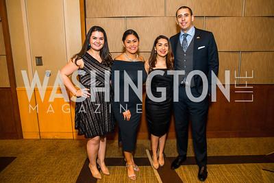 Yariamy Perez-Nieto, Elia Quintana, Rosa Mendoza, Daniel Davilo. Photo by Alfredo Flores. 20th Annual LULAC National Legislative Awards Gala. Grand Hyatt. February 15, 2017
