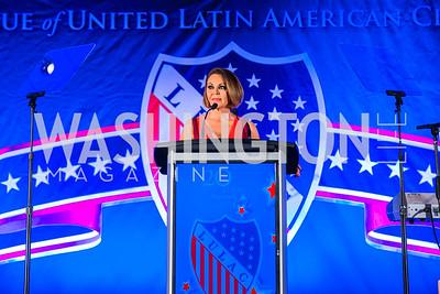 María Elena Salinas. Photo by Alfredo Flores. LULAC 20th Annual LULAC National Legislative Awards Gala. Grand Hyatt. February 15, 2017