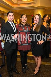 Michael Bunnell, Bertha Guerrero, Jessica Jane Guttlein. Photo by Alfredo Flores. LULAC 20th Annual LULAC National Legislative Awards Gala. Grand Hyatt. February 15, 2017
