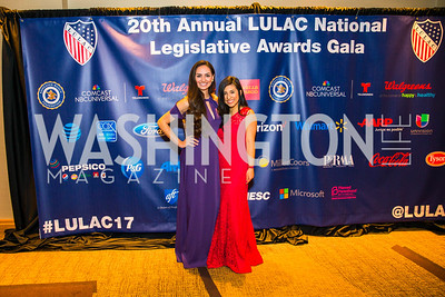 Cecilia Lopez, Elybeth Aquino. Photo by Alfredo Flores. LULAC 20th Annual LULAC National Legislative Awards Gala. Grand Hyatt. February 15, 2017