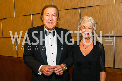 Tom Flores, Barbara Flores. Photo by Alfredo Flores. 20th Annual LULAC National Legislative Awards Gala. Grand Hyatt. February 15, 2017