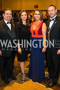 Roger Rocha, Domenika Lynch, María Elena Salinas, Brent Wilkes. Photo by Alfredo Flores. LULAC 20th Annual LULAC National Legislative Awards Gala. Grand Hyatt. February 15, 2017
