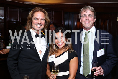 Scott Attaway, Carmela Quezon, George Zelcs. Photo by Tony Powell. 45th Anniversary of Public Citizen. Press Club. June 16, 2016