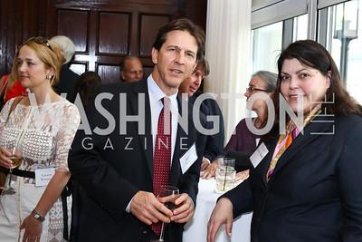 Jason Adkins, Teresa Amato. Photo by Tony Powell. 45th Anniversary of Public Citizen. Press Club. June 16, 2016