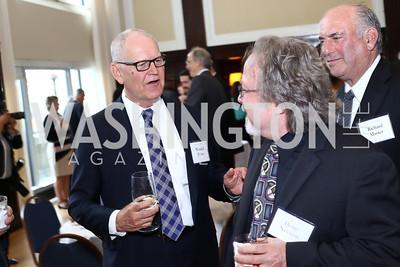 Wendell Potter, Henry Nevison, Richard Master. Photo by Tony Powell. 45th Anniversary of Public Citizen. Press Club. June 16, 2016