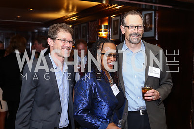 Eric Halperin, Cynthia Renfro, John Passacantando. Photo by Tony Powell. 45th Anniversary of Public Citizen. Press Club. June 16, 2016