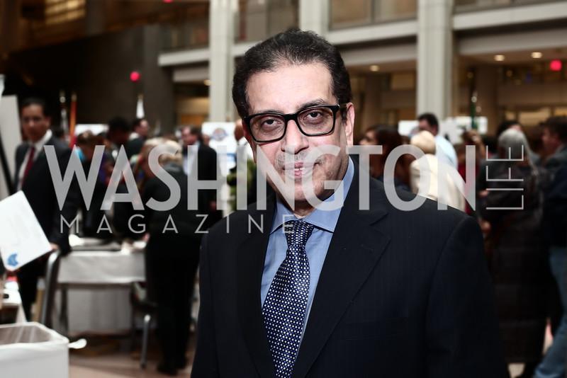 Arab League Amb. Salah Sarhan. Photo by Tony Powell. 4th Annual Winternational. Reagan Building. December 9, 2015