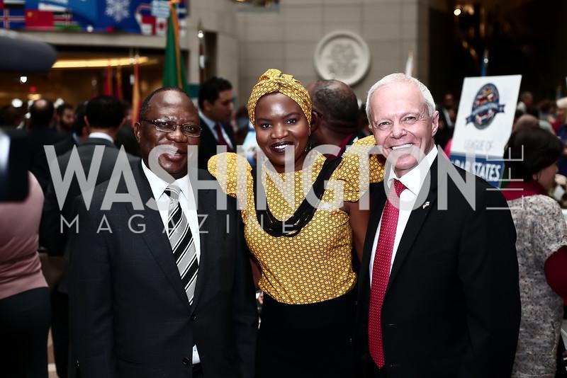 South Africa Amb. Mninwa Mahlangu, Changu Newman and Botswana Amb. David Newman. Photo by Tony Powell. 4th Annual Winternational. Reagan Building. December 9, 2015