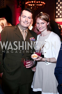 GYSGT Matt Barr and Callie Barr. Photo by Tony Powell. 6th Annual Blue Star Neighbors Gala. Chamber of Commerce. April 7, 2016