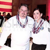 Chef Robert Wiedmaier, TSGT Jennifer Medeiros. Photo by Tony Powell. 6th Annual Blue Star Neighbors Gala. Chamber of Commerce. April 7, 2016