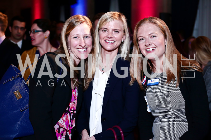Sara Couppas, Megan Gerking, Jenny Campbell. Photo by Tony Powell. 6th Annual Blue Star Neighbors Gala. Chamber of Commerce. April 7, 2016