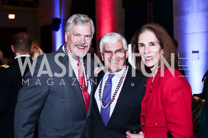 Ned Powell, Gen. George Casey, Diane Powell. Photo by Tony Powell. 6th Annual Blue Star Neighbors Gala. Chamber of Commerce. April 7, 2016
