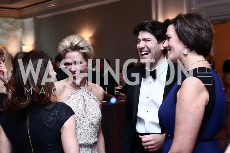 Jodi Bond, Elizabeth Kaufman, David and Amanda Bowker. Photo by Tony Powell. 8th Annual Heroes Curing Childhood Cancer Gala. Ritz Carlton. February 20, 2016