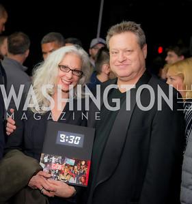 Dody DiSanto, Seth Hurwitz, 9:30 Club World's Fair, Celebrating 35 Years, January 5, 2016, photo by Ben Droz.