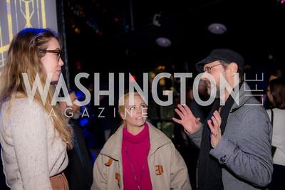 Maggie Cannon, Jessica Mowery, Bob Boilen, 9:30 Club World's Fair, Celebrating 35 Years, January 5, 2016, photo by Ben Droz.