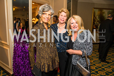 Susan Stamberg, Denise Couture Denise Fawcett. Photo by Alfredo Flores. A Celebration of Diane Rehm. The Willard Intercontinental Hotel. November 10, 2016
