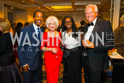 Kenyan McDuffie, Diane Rehm, LaRuby May, John Hagedorn. Photo by Alfredo Flores. A Celebration of Diane Rehm. The Willard Intercontinental Hotel. November 10, 2016