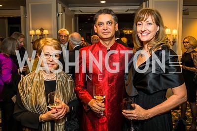 Carol Tennenwald, Ati Jain, Elizabeth Jain. Photo by Alfredo Flores. A Celebration of Diane Rehm. The Willard Intercontinental Hotel. November 10, 2016