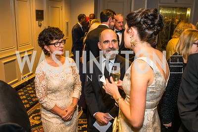 Andi McDaniel, David McDaniel, Cynthia McMullen. Photo by Alfredo Flores. A Celebration of Diane Rehm. The Willard Intercontinental Hotel. November 10, 2016