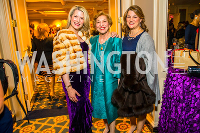Linda Courie, Carolyn Manor, Diana Courie. Photo by Alfredo Flores. A Celebration of Diane Rehm. The Willard Intercontinental Hotel. November 10, 2016