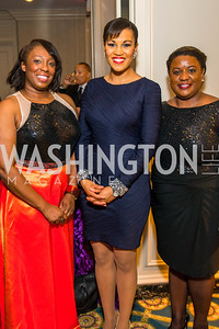 Althea Evans, Michelle Millben, Kimberly Morgan. Photo by Alfredo Flores. A Celebration of Diane Rehm. The Willard Intercontinental Hotel. November 10, 2016