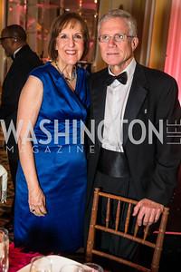 Karen Tumulty, Paul Richter . Photo by Alfredo Flores. A Celebration of Diane Rehm. The Willard Intercontinental Hotel. November 10, 2016
