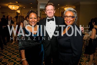 Caryn Mathes, Neil Kerwin, Mary Kennard. Photo by Alfredo Flores. A Celebration of Diane Rehm. The Willard Intercontinental Hotel. November 10, 2016