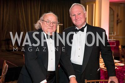 Ted Truman , Hugh Hill . Photo by Alfredo Flores. A Celebration of Diane Rehm. The Willard Intercontinental Hotel. November 10, 2016