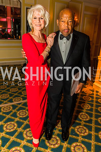 Diane Rehm, Rep. John Lewis. Photo by Alfredo Flores. A Celebration of Diane Rehm. The Willard Intercontinental Hotel. November 10, 2016 .CR2