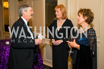 Ron Elving, Terry Flannery, Belle Elving. Photo by Alfredo Flores. A Celebration of Diane Rehm. The Willard Intercontinental Hotel. November 10, 2016