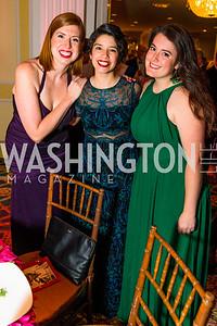 Bec Feldhaus Adams, Allison Aguilar, Maddie Poore. Photo by Alfredo Flores. A Celebration of Diane Rehm. The Willard Intercontinental Hotel. November 10, 2016