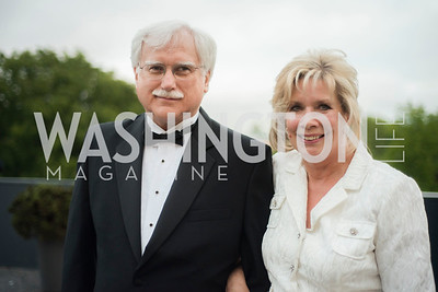 George Yearsich and Linda Spanier, A-May-Zing Spring Gala, at the Residence of Swiss Ambassador , THIS for Diplomats, May 6, 2016.  Photo by Ben Droz.