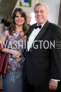 Leda DiLeonardo and Chris Wolf, A-May-Zing Spring Gala, at the Residence of Swiss Ambassador , THIS for Diplomats, May 6, 2016.  Photo by Ben Droz.