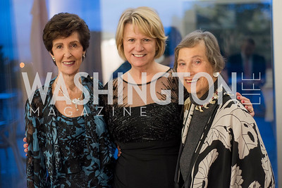 Phyllis Kaplan, Liz Klass, Beatrice Fitch, A-May-Zing Spring Gala, at the Residence of Swiss Ambassador , THIS for Diplomats, May 6, 2016.  Photo by Ben Droz.