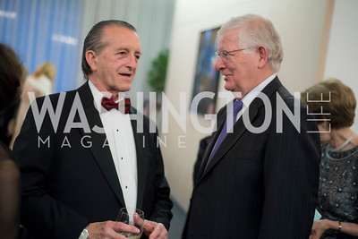 Hugh Grindstaff and Dr James Thurber, A-May-Zing Spring Gala, at the Residence of Swiss Ambassador , THIS for Diplomats, May 6, 2016.  Photo by Ben Droz.