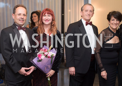 Daniel Hunn, Edit Hunn, Hugh Grindstaff, Dr Joan Keston, A-May-Zing Spring Gala, at the Residence of Swiss Ambassador , THIS for Diplomats, May 6, 2016.  Photo by Ben Droz.