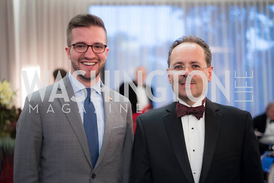 David Nelson, Daniel Hunn, A-May-Zing Spring Gala, at the Residence of Swiss Ambassador , THIS for Diplomats, May 6, 2016.  Photo by Ben Droz.