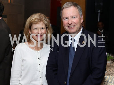 Jean Lamborn and Rep. Doug Lamborn. Photo by Tony Powell. Ahmed Mater Art Opening. Freer Sackler. September 15, 2016