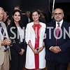 David Ottaway, Haifa Alghaith, Arwa Al-Munajjed, Nail Al-Jubeir, Michael Donnelly. Photo by Tony Powell. Ahmed Mater Art Opening. Freer Sackler. September 15, 2016