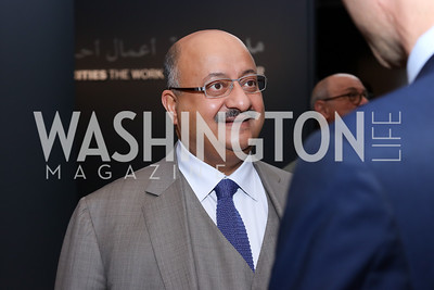 Saudi Arabia Amb. Abdullah Al Saud. Photo by Tony Powell. Ahmed Mater Art Opening. Freer Sackler. September 15, 2016