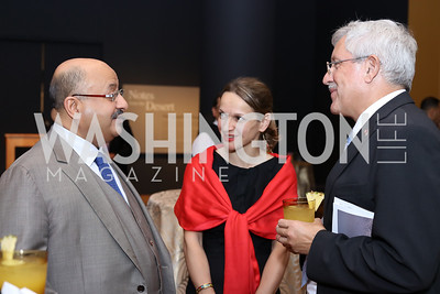 Saudi Arabia Amb. Abdullah Al Saud, Dr. Majda Ruge, Switzerland Amb. Martin Dahinden. Photo by Tony Powell. Ahmed Mater Art Opening. Freer Sackler. September 15, 2016