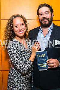 Lauren Ehrsam, Jason Gorey. Photo by Alfredo Flores. An Evening With Sebastian Junger. Dentons US LLP. June 15, 2016